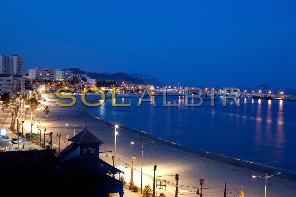 Villajoyosa harbour by night