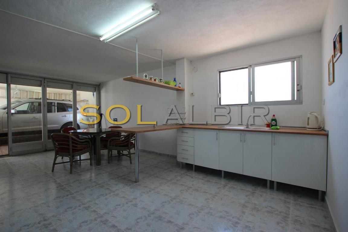 Kitchen, dining room, lower floor