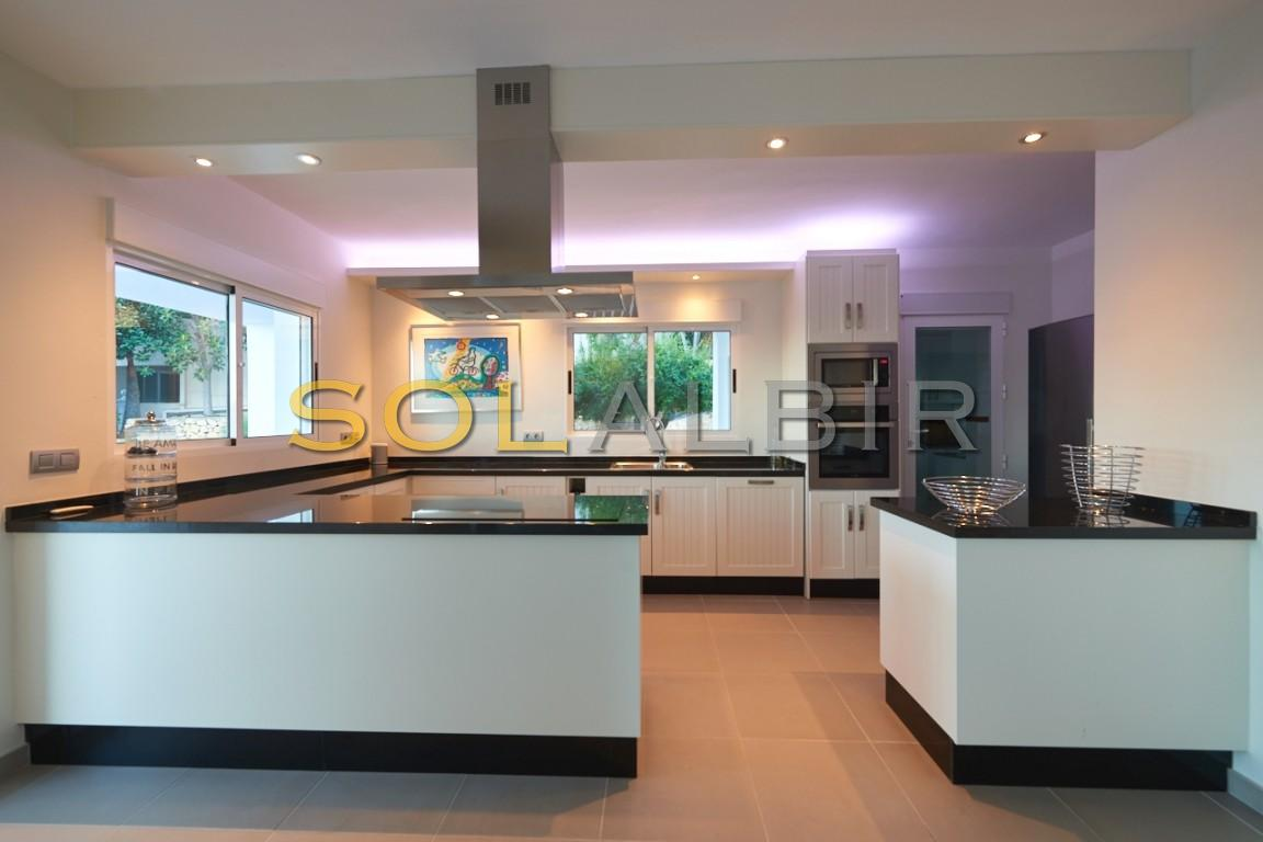 The practical kitchen with very nice light efects