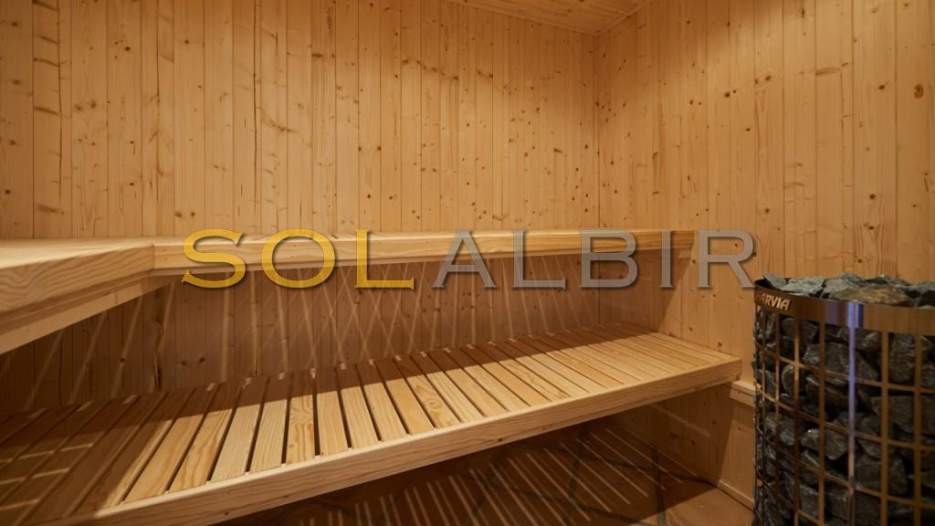relax in the sauna..