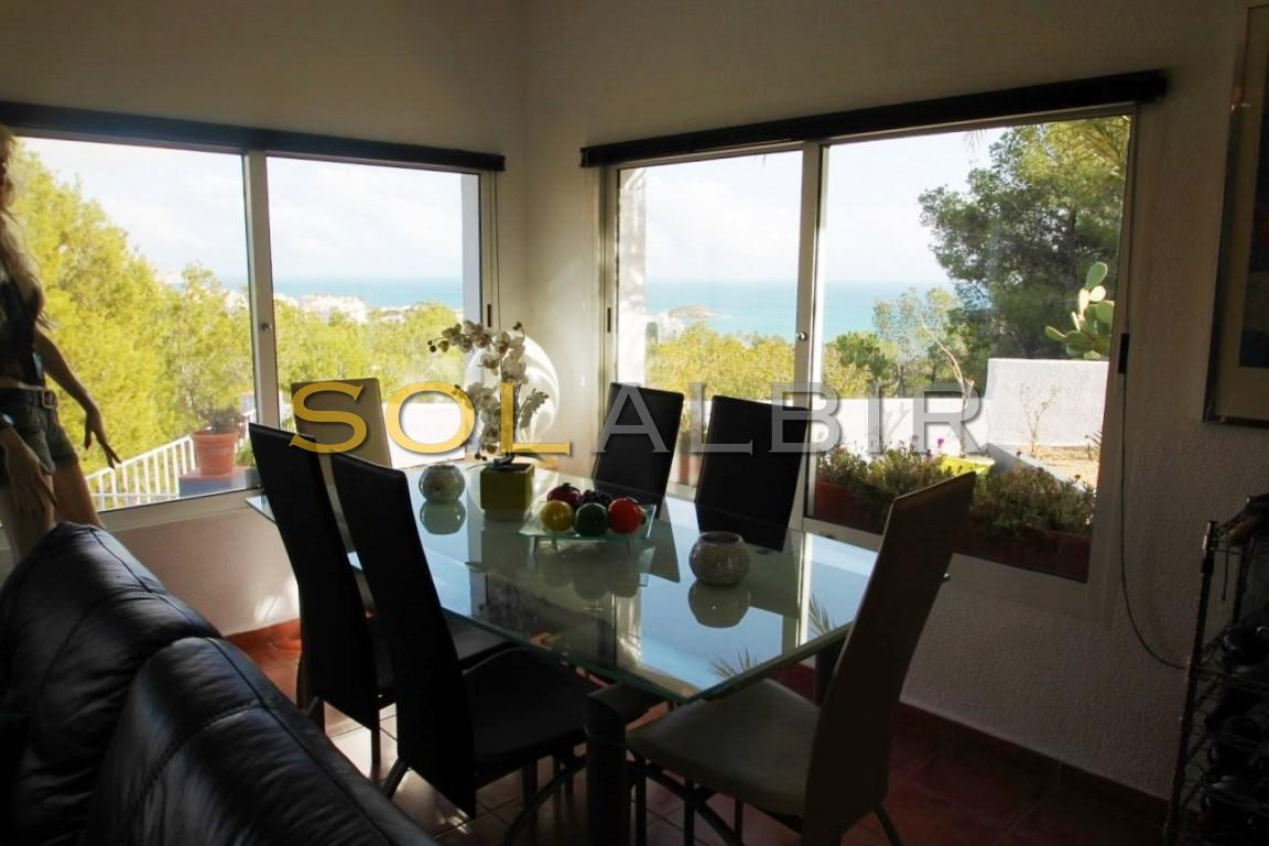 Dining area with fabulous see views