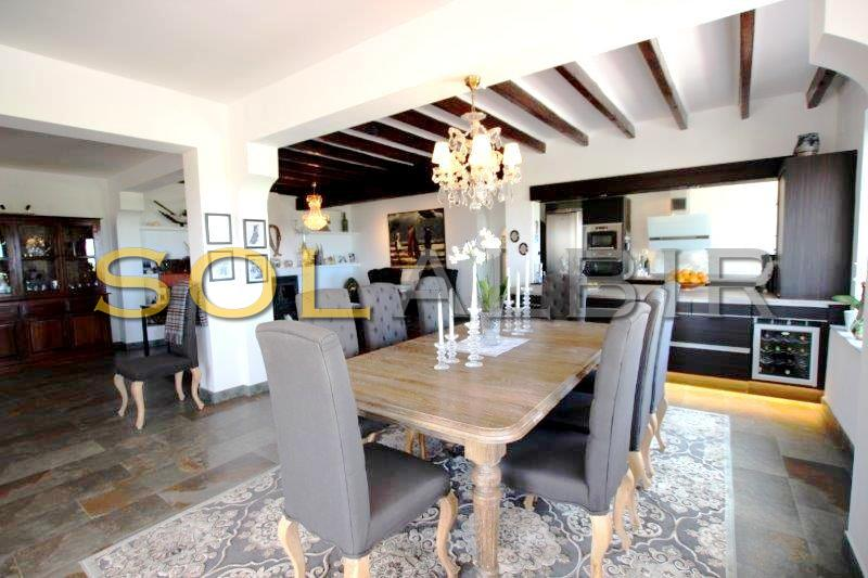 The dining area in this nice and..