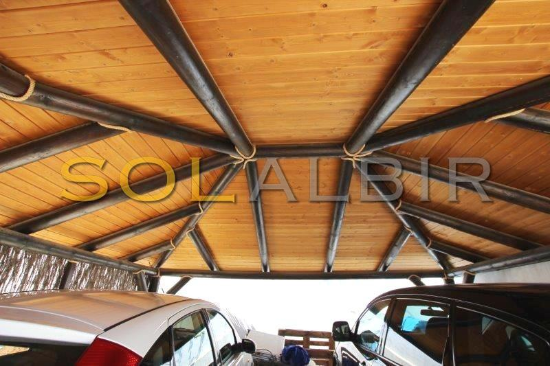 The solid roof of the carport