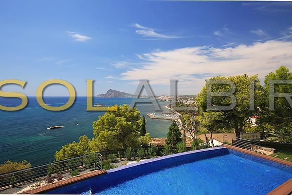 Panoramic views from the pool area