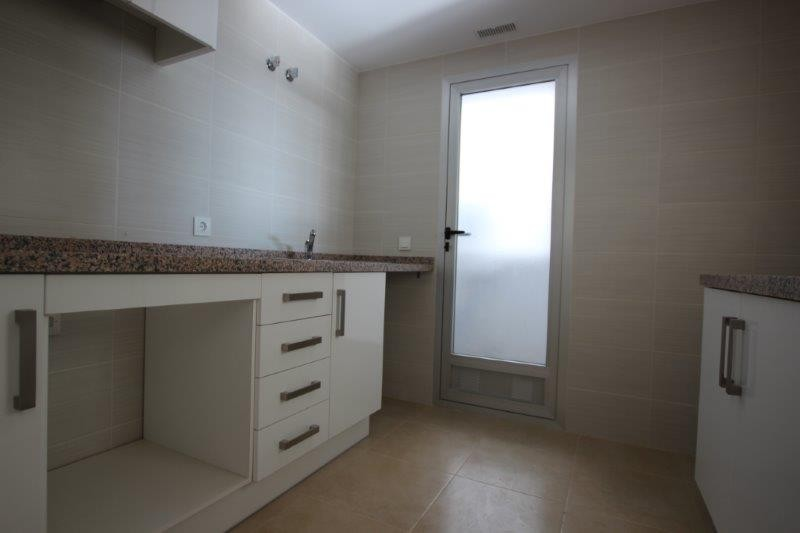 Kitchen with cloak room