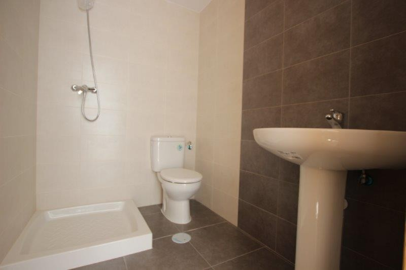 One of the bathrooms with shower